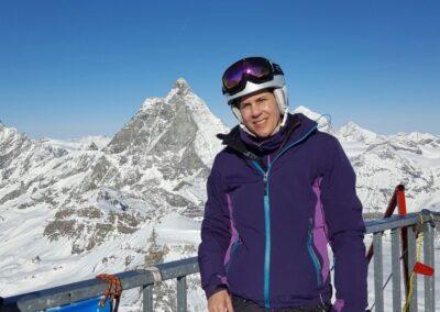 """Klein Matterhorn - mit Blick aufs """"Grosse"""""""